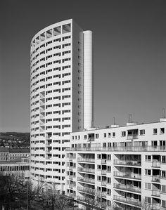 "Personalwohnhaus ""Klinotel"" Ottakring | NMPB Architekten Skyscraper, Multi Story Building, Architects, Homes, House, Skyscrapers"