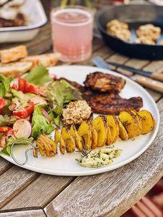 Spiralkartoffeln - Potato Twisters - Tornado Pommes - Fashion Kitchen Pasta Salad, Cobb Salad, Weather Storm, Travel Oklahoma, New York Travel, Twisters, Bbq, Potatoes, Barbecue