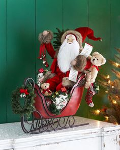 4) Heading Home Santa by Lynn Haney at Horchow. #HorchowHoliday14