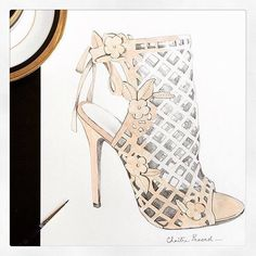 """""""Made the cut. X Loving this sketch by @chaitra.prasad of our #marchesashoes. Tag #marchesafanfriday for a chance to have your artwork on our wall!…"""""""