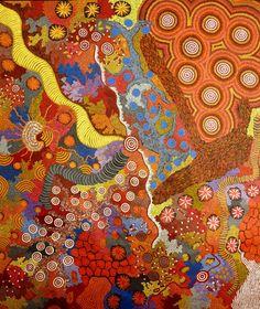 Yilpi & Damien Marks  Untitled  Acrylic on Canvas