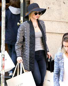 Awkward Hair Phase - Jennifer Lawrence shopped at Rag & Bone in NYC on April 21.