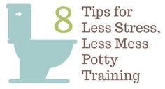8 tips for less stress, less mess potty training. For real. Done in a weekend!