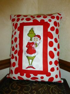 Hey, I found this really awesome Etsy listing at https://www.etsy.com/listing/171173191/how-the-grinch-stole-christmas-pillows