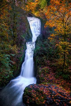 ~~Bridal Veil Falls ~ autumn, Columbia Gorge, Oregon by Michael Brandt Photography~~