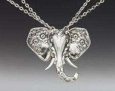 "Spoon Necklace: ""Elephant"" by Silver Spoon Jewelry"