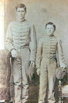 """thecivilwarparlor:Cadets At The Virginia Military Institute-The Battle Of New Market-Never Before, Nor Since, Has An Entire Student Body Been Called From Its Classrooms Into Pitched Battle""""Put the boys in, and may God forgive me for the order."""" Each May 15, in a ceremony dating to 1866, the ten young soldiers of the Institute who lost their lives in the battle are commemorated in a ceremonial roll call. It takes place before the graves of six of the cadets, marked by the statue,Virginia… American Civil War, American History, Battle Of New Market, Soldier Spy, Stonewall Jackson, War Image, Civil Wars, Interesting Stories, Civil War Photos"""