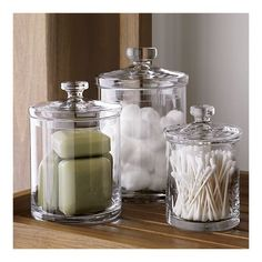 [for the accoutrement] x-large glass canister