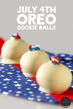Simple, tasty, and patriotic. These American Spirit OREO Cookie Balls recipe will brighten up any 4th of July party!