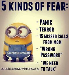 Types of Fear!