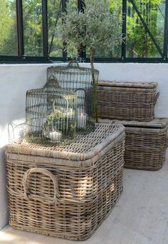 Wicker Versus Resin-Wicker: What Lasts Longer? Egg Basket, Rattan Basket, Basket Bag, Casas Country, Bountiful Baskets, French Baskets, Estilo Country, Bird Cages, Basket Decoration