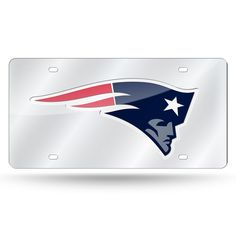 NFL New England Patriots Laser License Plate Tag - Silver