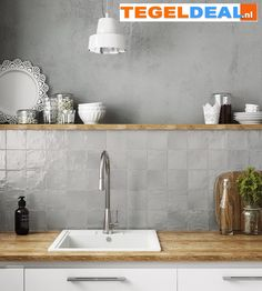 Ivy Hill Tile Amagansett Grey 4 in. x 4 in. / box) - - The Home Depot grau Ivy Hill Tile Amagansett Grey 4 in. x 4 in. Home Kitchens, Rustic Kitchen, Kitchen Remodel, Kitchen Tiles, Kitchen Inspirations, Kitchen Decor, Kitchen Interior, Interior Design Kitchen, Kitchen Wall Tiles