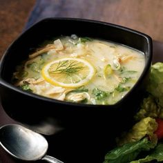 Turkey Magiritsa   This is a variation of the classic Greek soup magiritsa, which is typically made from lamb, chicken broth, egg, and lemon, and is served to end the Lenten fast. Here, it's transformed into a fine fall dish using turkey leftovers.