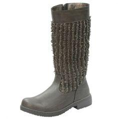 Girls Frayed Knit Boot
