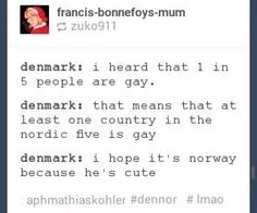 Denmark...I think you got it the other way round XD