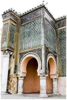 Bab Mansour, Meknes, Morocco - One of the oldest gates in all of...