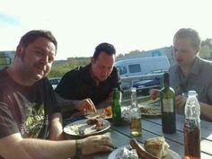 Michael poulsen enjoying a meal
