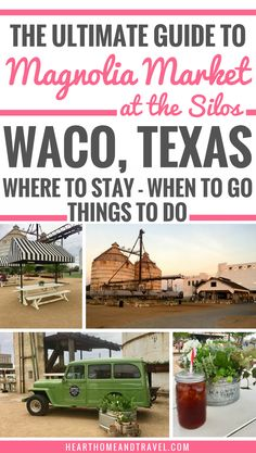 Planning a trip to Waco, Texas to visit Magnolia Market at the Silos? Check out this helpful guide w Texas Vacations, Texas Roadtrip, Texas Travel, Vacation Trips, Travel Usa, Vacation Ideas, Family Vacations, Texas Vacation Spots, Texas Getaways