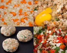 Quinoa Veggie Burgers. Just no breadcrumbs!