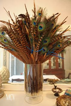 DIY Home Decor - Feathers in Vases …