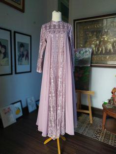 Batik Fashion, Abaya Fashion, Muslim Fashion, Model Dress Kebaya, Kebaya Modern Dress, Muslim Gown, Hijab Dress Party, Girls Dresses Sewing, Dress Brokat