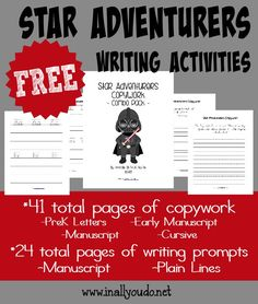 Have a Star Wars enthusiast in your house? Try these fun Star Adventurer Writing Activities to inspire their creativity! {65 total pages} :: www.inallyoudo.net