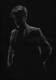 White on Black Drawing by Marilyn (Estonia)