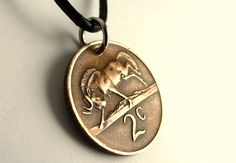 Men's necklace South African Coin necklace Coin by CoinStories