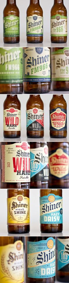 Very classy Shiner Beer labels that never made it to production.