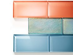 An updated material puts a colorful twist on the classic subway tile