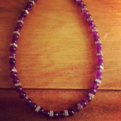 Purple+Glass+Beaded+Necklace+by+TarasExpressions+on+Etsy,+$24.00