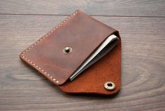 Minimalist Wallet Best Leather Wallet Slim Wallet by Rachiba Best Leather Wallet, Minimalist Leather Wallet, Leather Gifts, Leather Craft, Hand Gestempelt, Gifts For Fiance, Leather Projects, Slim Wallet, Leather Accessories