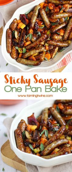 quick and easy family dinner, this Sticky Sausage One Pan Traybake is simple a. A quick and easy family dinner, this Sticky Sausage One Pan Traybake is simple a. A quick and easy family dinner, this Sticky Sausage One Pan Traybake is simple a. Pork Recipes, Cooking Recipes, Healthy Recipes, Sausage Meat Recipes, Sausage Meals, Recipies, Tasty Meals, Cooking Cake, Healthy Family Meals