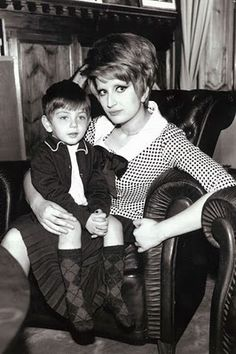 With her son Massimiliano