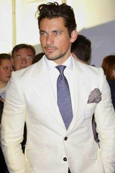 David Gandy in white