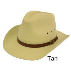 Unisex Cowboy Sun Hat Fancy Dress  Tan 100% Cotton