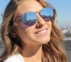 a7ea451a42d Óculos de Sol Ray Ban Blaze Round RB3574N-90351U Mirrored Sunglasses