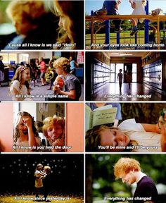 "THIS VIDEO IS LEGITIMATELY THE CUTEST THING EVER. Screen grabs from Taylor Swift's ""Everything Has Changed"" featuring Ed Sheeran."