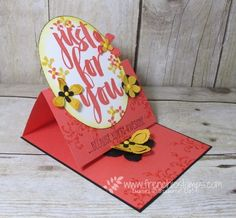 Stamp & Scrap with Frenchie:Botanila for YOU, Sale a Bration, Easel Card  Fancy Folds Design Team February Blog Hop