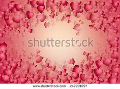 Valentine red #hearts over light pink background