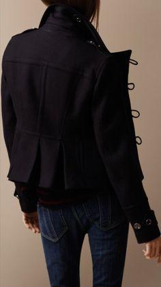 Burberry - Cropped Regimental duffle coat