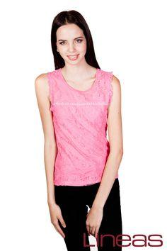 Blusa, Modelo 20030. Precio $160 MXN #Lineas #outfit #moda #tendencias #2014 #ropa #prendas #estilo #primavera #outfit #blusa