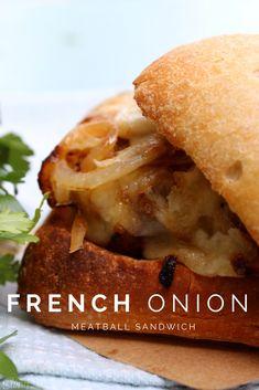 French Onion Meatball Sandwich #WeekNightHero #Ad @Walmart