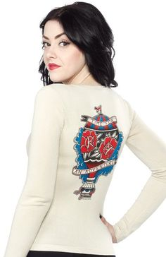 "Peaches ""Adventure"" Cardigan By Sourpuss 