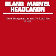 Bucky Barnes; falling; train; fixed point in time; James Buchanan Barnes; Doctor Who; Winter Soldier; Captain America; Marvel; Bland Marvel Headcanons