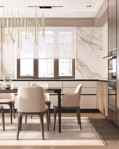 [New] The Best Home Decor (with Pictures) These are the 10 best home decor today. According to home decor experts, the 10 all-time best home decor. Kitchen Interior, Home Interior Design, Interior Architecture, Kitchen Diner Designs, Kitchen Design, Luxury Kitchens, Home Kitchens, Neoclassical Interior, Modern Kitchen Island
