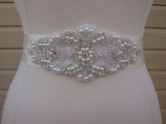 Bridal Sash  Wedding Dress Sash Belt  Pearl by BellaFleurBridal, $45.00