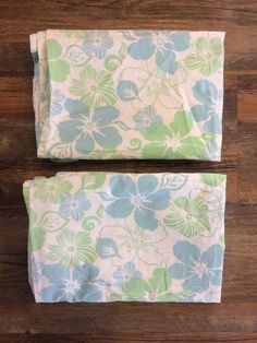 Pottery Barn Teen PB Teen 2 Pillowcases Hibiscus Hawaiian Green Blue Flowers  #PotteryBarn Pb Teen, Pottery Barn Teen, Cotton Bedding, Bedding Collections, Pillowcases, Blue Flowers, Hibiscus, Hawaiian, Blue Green
