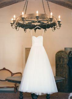 Tulle ball gown wedding dress: http://www.stylemepretty.com/2014/08/30/a-sunny-celebration-at-the-santa-barbara-historical-museum/ | Photography: Michael & Anna - http://www.michaelandannacosta.com/